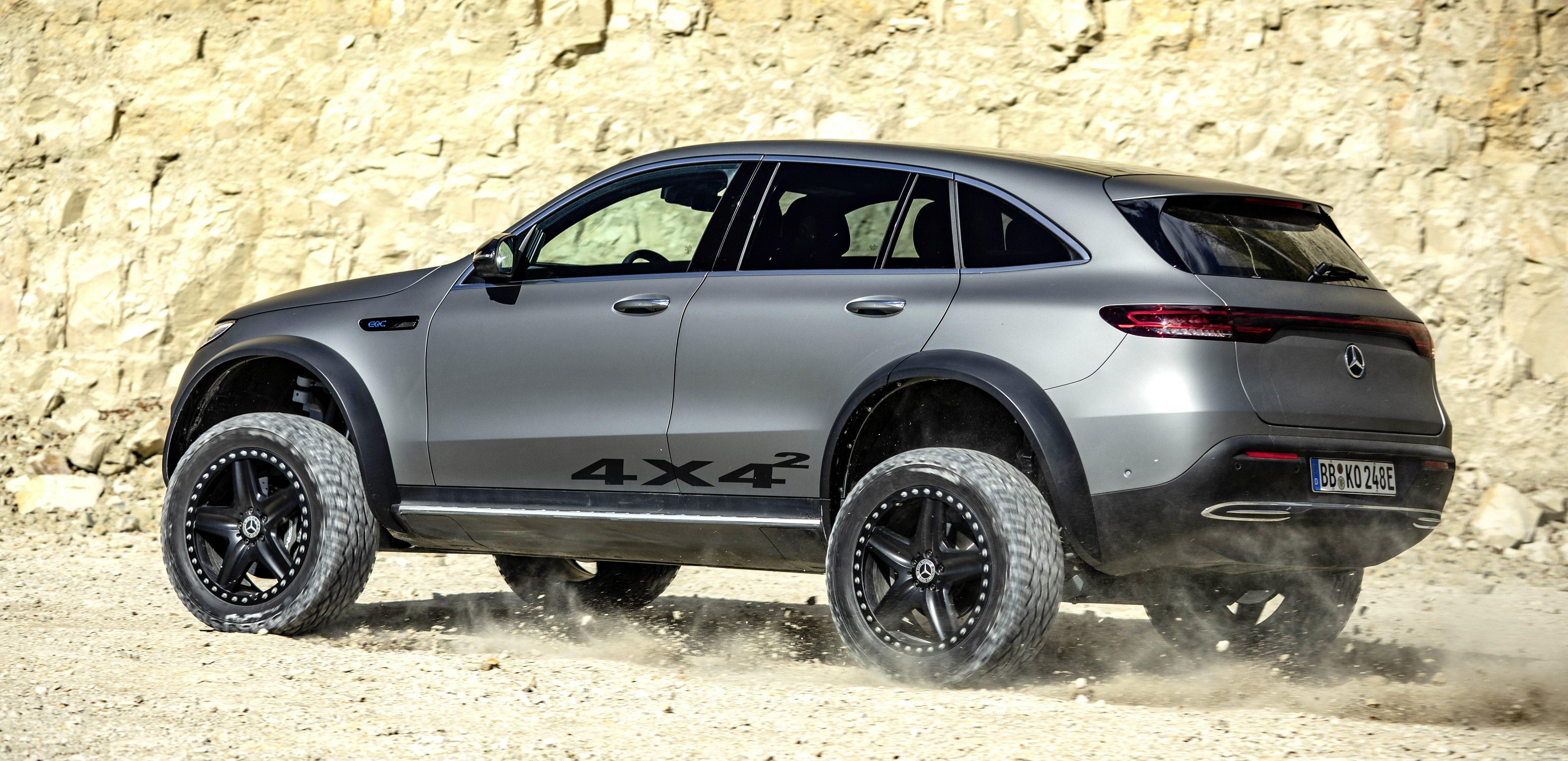 Mercedes Benz Unveils Rugged Eqc 4x4 Electric Off Road Suv Electrek