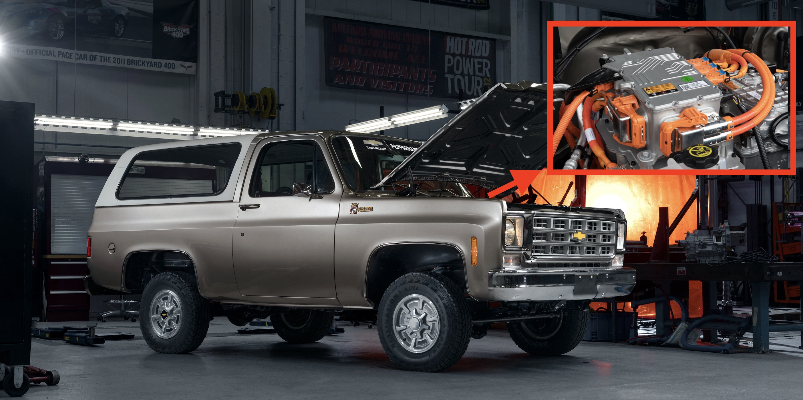 GM unveils 1977 K5 Blazer-E with electric power thanks to its upcoming eCrate conversion kit - Electrek
