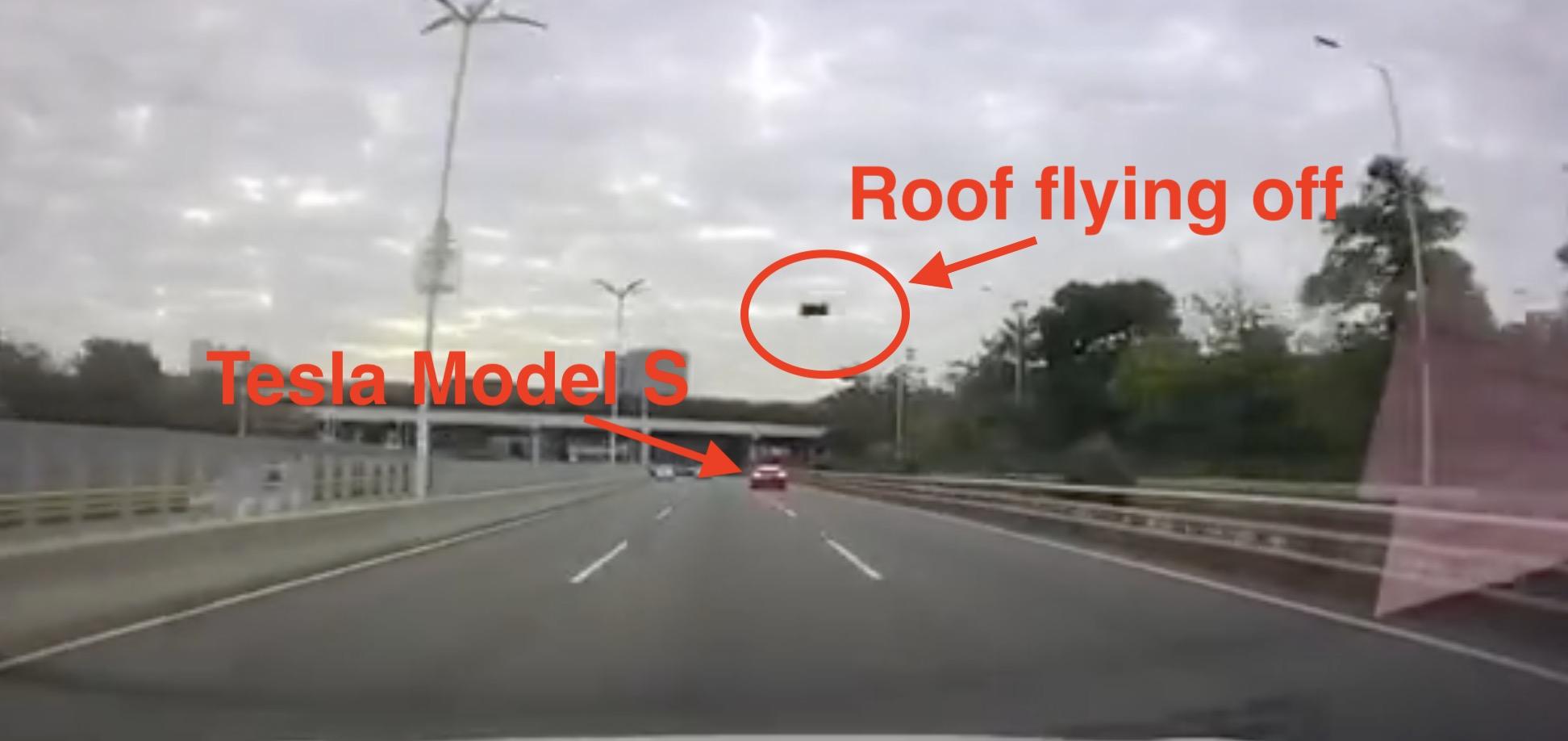 Tesla Model S roof flying off jpg?quality=82&strip=all