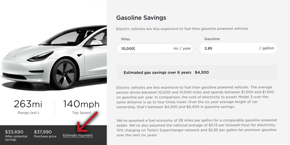 Tesla Savings Calculator