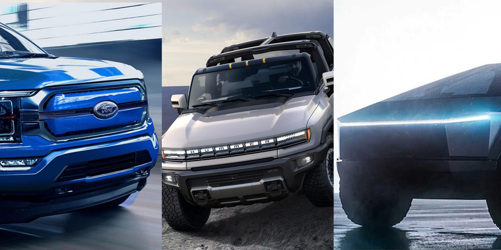 Upcoming electric trucks: Tesla Cybertruck, Ford F-150 EV, and GMC Hummer EV compared - Electrek