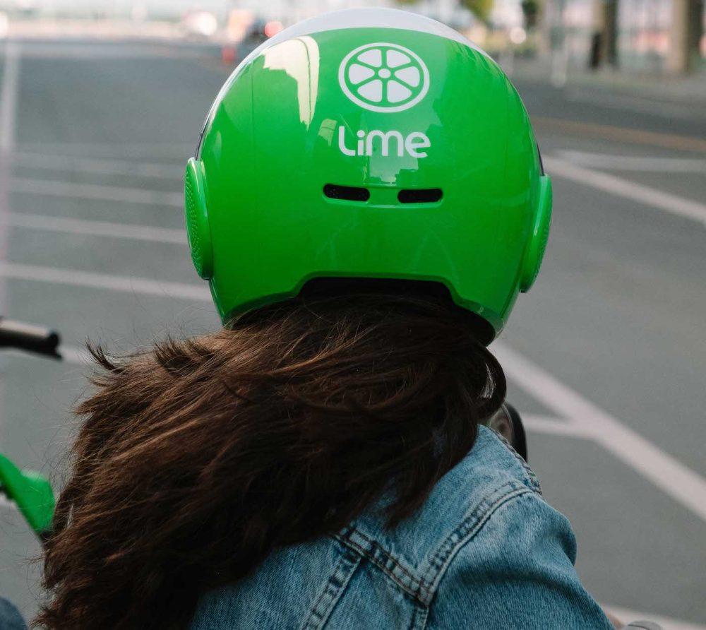 lime scooter helmet