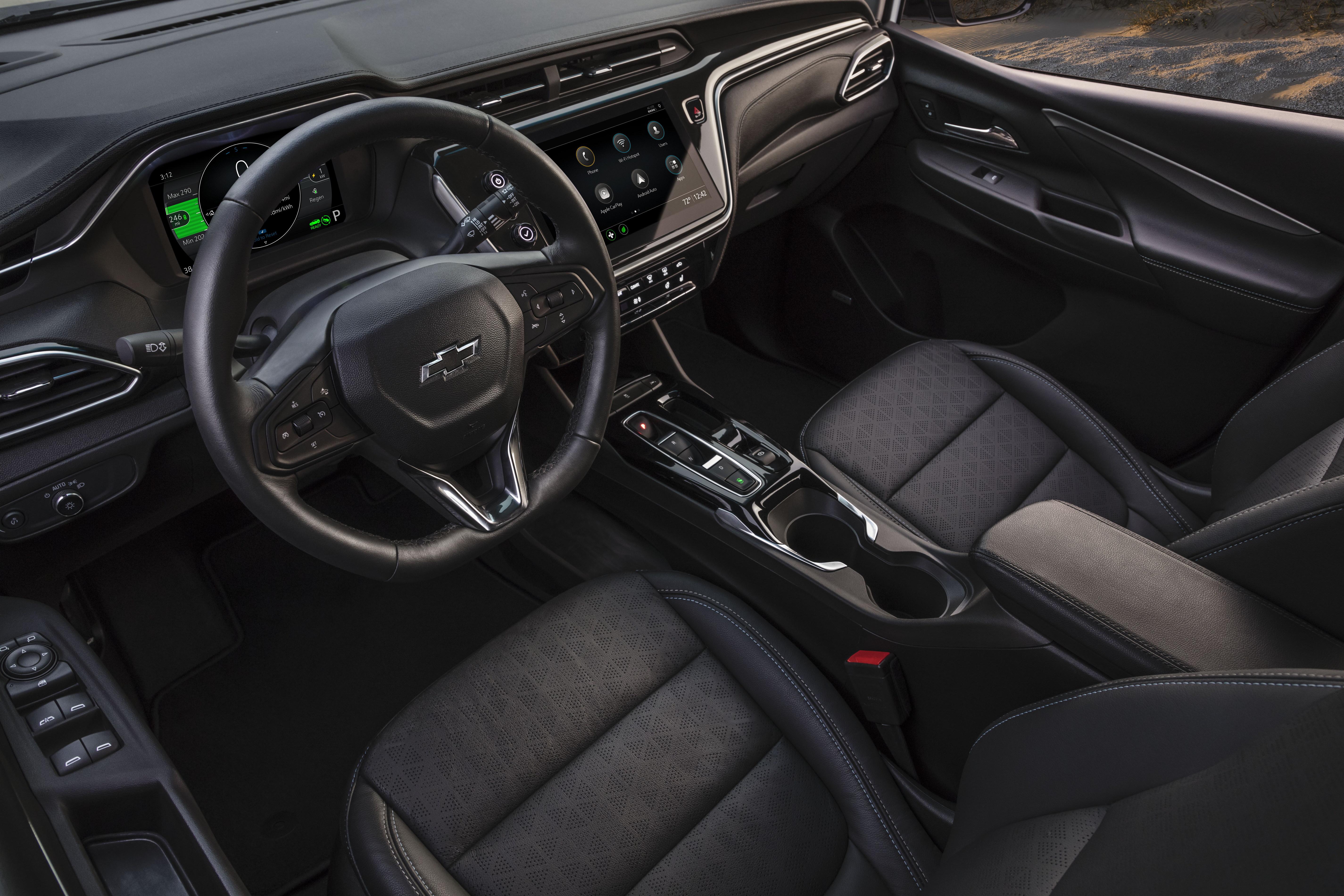 Chevrolet Bolt EV 2022 года подробнее удобные сиденья