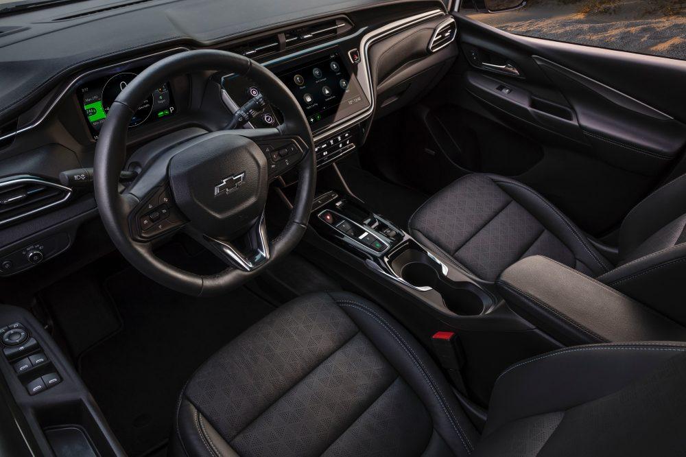 2022 Chevrolet Bolt EV more comfortable seating