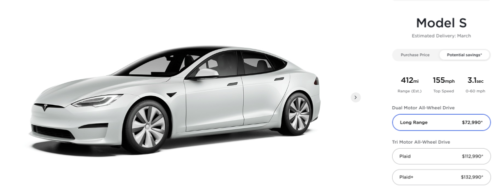 Model S Pricing