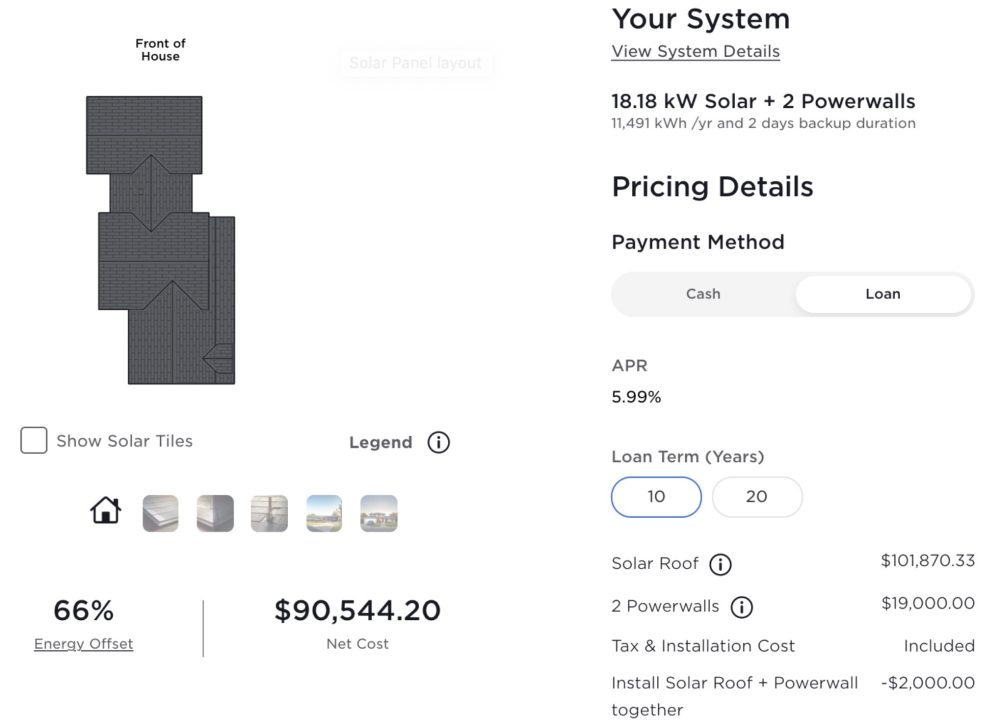 tesla solar roof system price increase