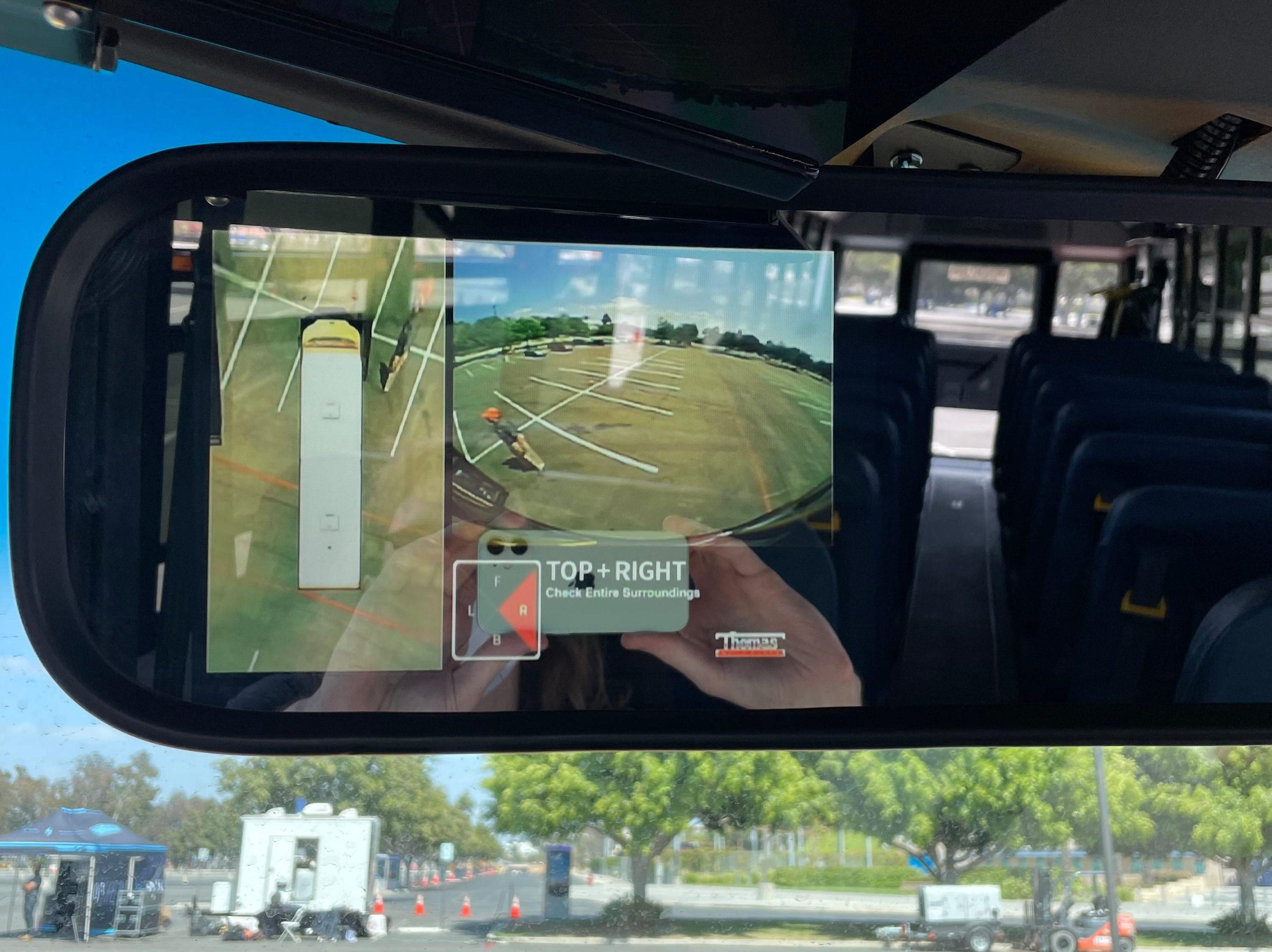 jouley electric school bus rearview mirror